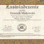 certyfikat 24 - Dental Comfort