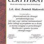 certyfikat 25 - Dental Comfort